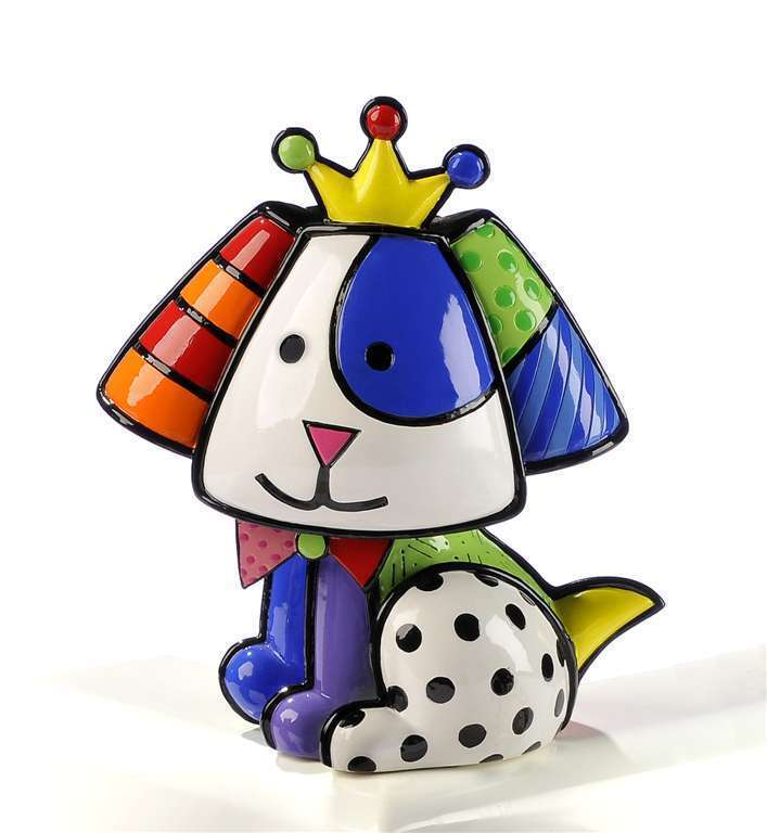 Romero Britto Beagle - Royalty Dog 3 Dimensional Figurine #331121 NEW