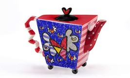 Romero Britto Large Flying Heart Teapot 48 oz NEW