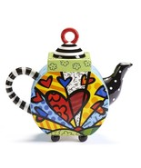 "Romero Britto  ""A New Day"" Teapot  XLarge 63 oz Size #334015  NEW - $69.76"