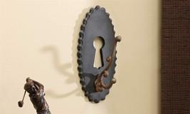 """11"""" Doorplate Key Hook - Antique Inspired -  Metal & MDF"""