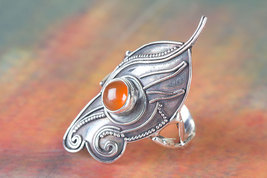 Amazing 925 Carnelian Gemstone Sterling Silver Ring All size BJR-477-CA - $17.99+