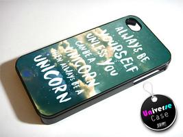 Unicorn Quote Vintage Sky iPhone 4S Case Hard Plastic - $14.85