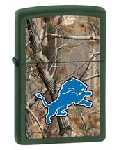 Zippo Camouflaged Detroit Lions Green Matte Lighter - $39.85