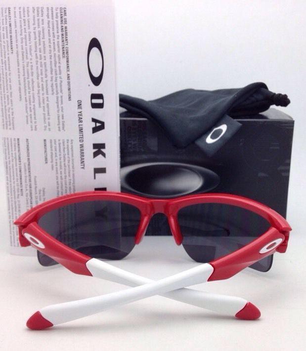 8e54ed307b OAKLEY Sunglasses QUARTER JACKET OO9200-08 Red Frame with Black Iridium  Lenses