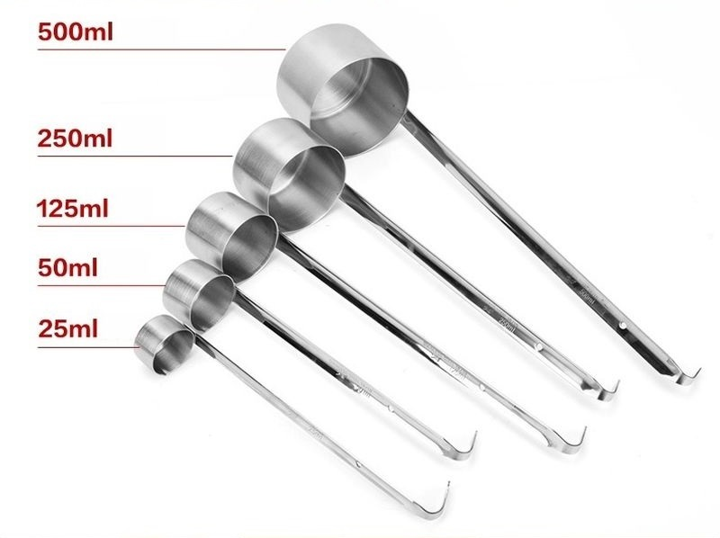 304 18/10 Stainless Steel Long Wine Pouring Spoon Hanging Ladle With Handle Hook - $10.49 - $17.49