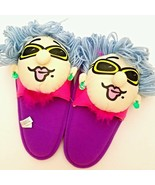 Funny Slippers Novelty Old Lady Cool Grandma Gr... - $24.70