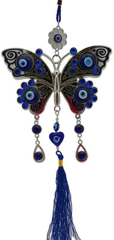 BUTTERFLY EVIL EYE WALL HANGING  - $28.99