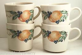 Corning Abundance Mugs Corelle Fruits Orange Bone Coffee Cup Lot of 4 - $19.97