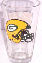 Green Bay Packers Drinking Glass Wisconsin Sports Pride Miller Beer NFL ... - $24.95