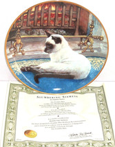 Siamese Cat Collector Plate Slumbering Kitty Da... - $49.95