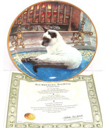 Siamese Cat Collector Plate Slumbering Kitty Daphne Baxter Franklin Mint Retired - $59.95
