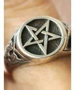 *jinn ring*  witchcraft vessel DRUID owned ~ HOLDs A SACRED Sigil ~ size... - $170.51