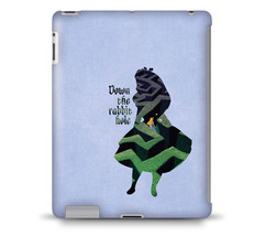 Alice in Wonderland Down The Rabbit Hole Quote Tablet Hard Shell Case - $24.99+