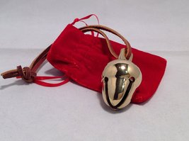 Elf Favorite Polar Double Chamber Gold Sleigh Bell From Santa's Sleigh W Velv...