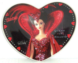 Barbie Collector Plate Queen of Hearts Bob Mackie Heart Shaped Red Vintage - $39.95