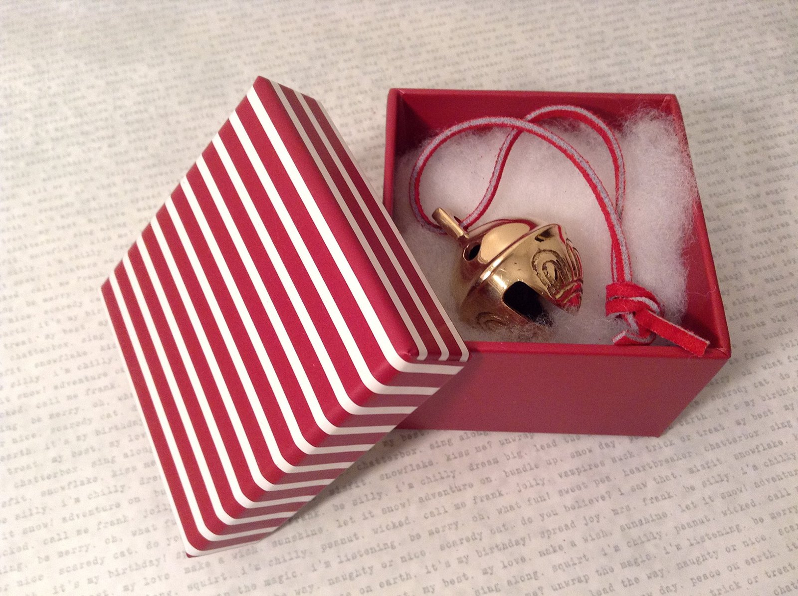 I Believe Real Polar Sleigh Bell Express From Elves with Elf Decorated Box