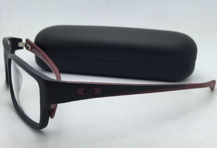 0e54d4229b7 Brand New OAKLEY SERVO Eyeglasses OX 1066-0451 51-18 Black   Brick-Red  Frames