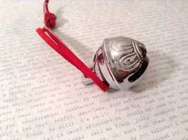 I Believe Real Silver Polar Reindeer Sleigh Bell Express Direct From Elves wi... image 5