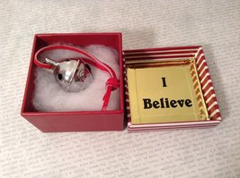 I Believe Real Silver Polar Reindeer Sleigh Bell Express Direct From Elves wi... image 6