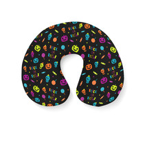 Neon Trick or Treat Travel Neck Pillow - $25.22 CAD