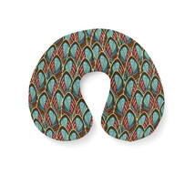 Peacock Feathers Travel Neck Pillow - $25.22 CAD