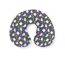 Ghosts with Candy Travel Neck Pillow - $25.22 CAD