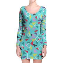 Mint Memphis Pattern Longsleeve Bodycon Dress - $36.99+