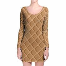 Icecream Waffle Cone Longsleeve Bodycon Dress - $36.99+