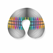 Rainbow Crayons Travel Neck Pillow - $25.22 CAD