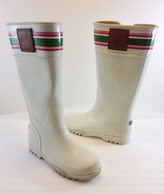 Sperry Top-Sider Womens 5 M Pelican Ivory Rubber Rain Boots Wellies Wate... - $45.08