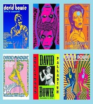 David Bowie Magnets - Set of 6 - $19.99