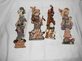 4 boyd's bears folkstone collection 8 inch resin 1994-1998 - $15.44