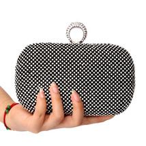 Bridal Evening bag with diamonds women's rhinestone banquet handbag day clutch - $29.99