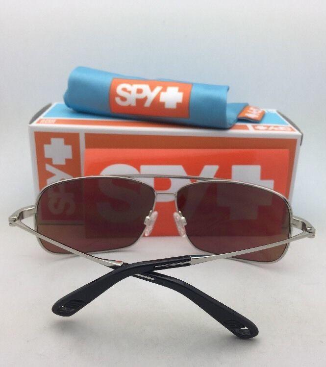 6b9a7de5347fb New SPY OPTIC Sunglasses LEO Silver Aviator Frame w  Happy Bronze+Green  Mirror