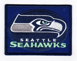 Seattle Seahawks 3x4 SEW/IRON On Patch Embroidered Nfl Football Jersey Helmet - $7.99