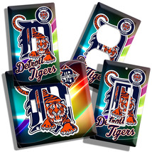 Detroit Tigers Mlb Baseball Logo Light Switch Outlet Cover Wall Plate Men Cave - $9.99+