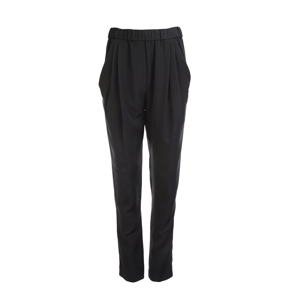 3.1 Phillip Lim Women's Draped Pocket Trouser S000-5447CPS BLK SZ 2