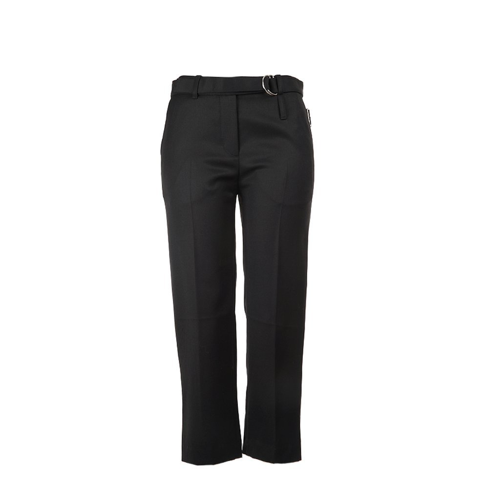 3.1 Phillip Lim Women's Slim Cropped Pants With Utility Strap F215-5889WGB Bl...