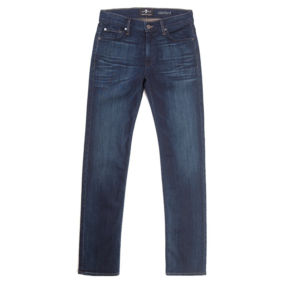 7 For All Mankind Men's Standard Relaxed Straight Jean in Marine ATA519629A S...