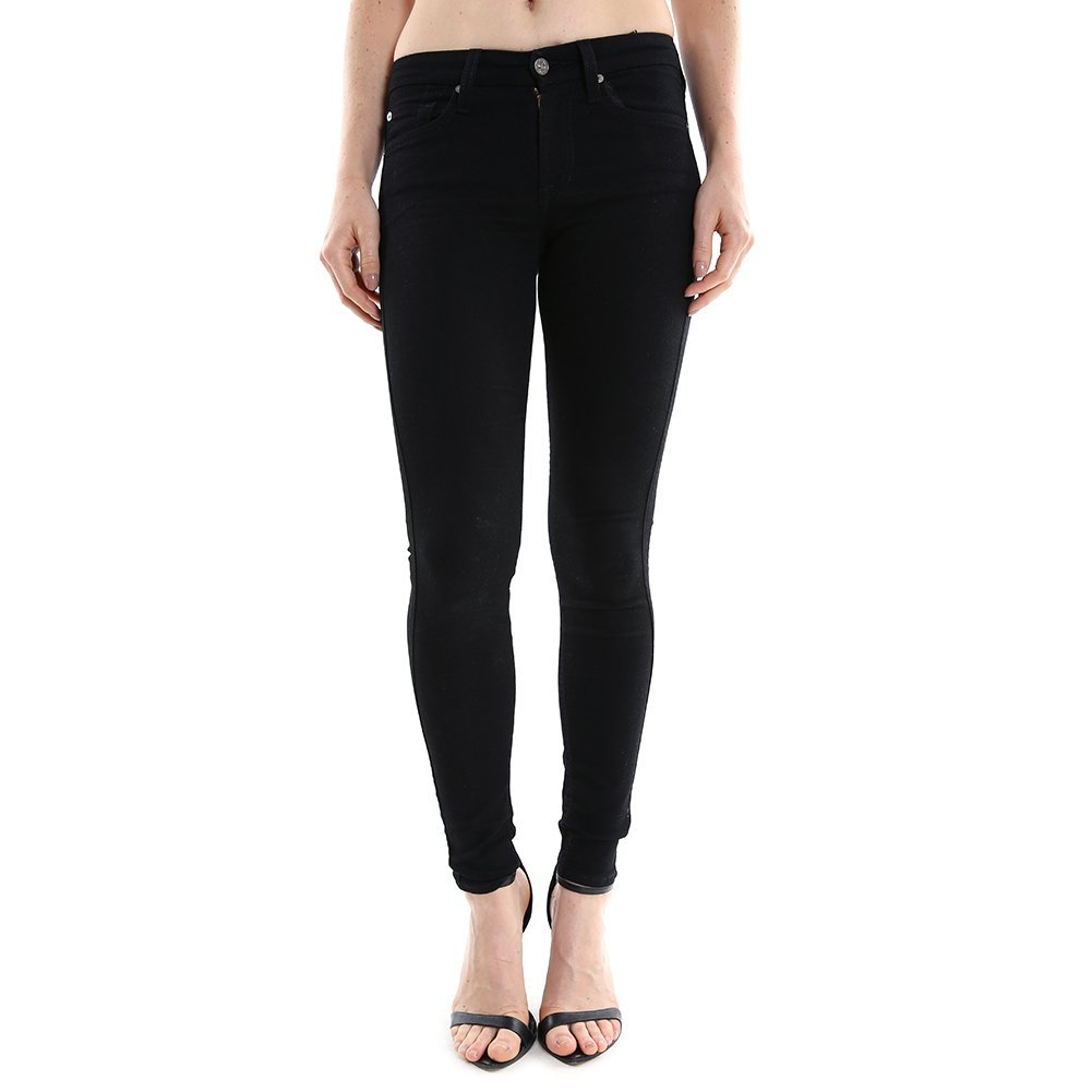 7 For All Mankind Women's Skinny w/ Squiggle in Elasticity Black AU004144A SZ 24
