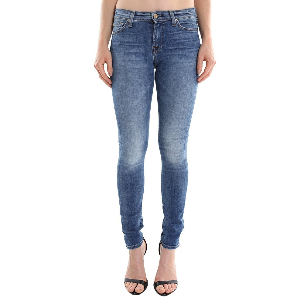 7 For All Mankind Women's Skinny w/ Squiggle in Destroyed Rue De AU004144A SZ 24