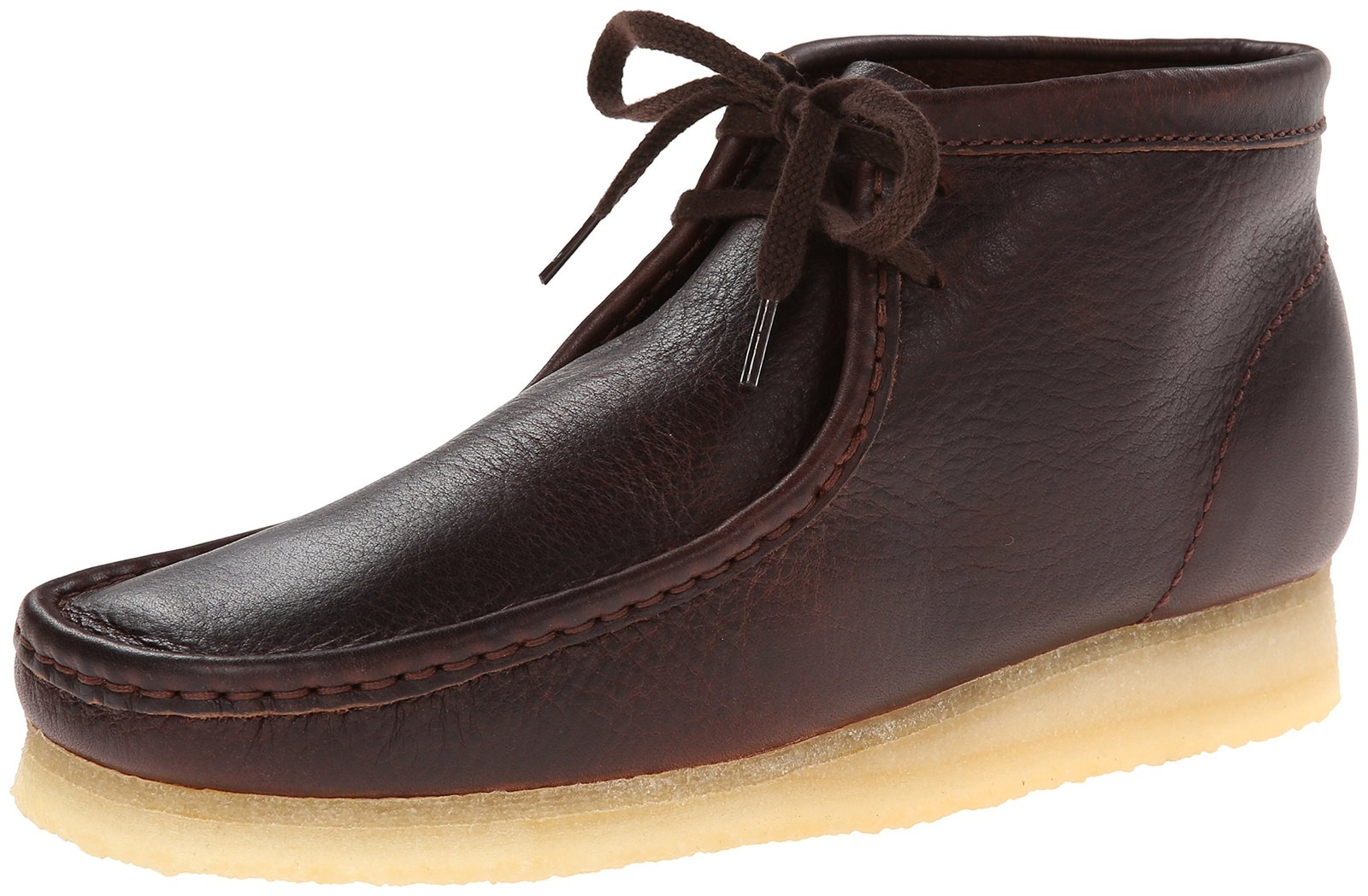 Clarks Men's Wallabee B Chukka Boot,Brown Leather,8 M US