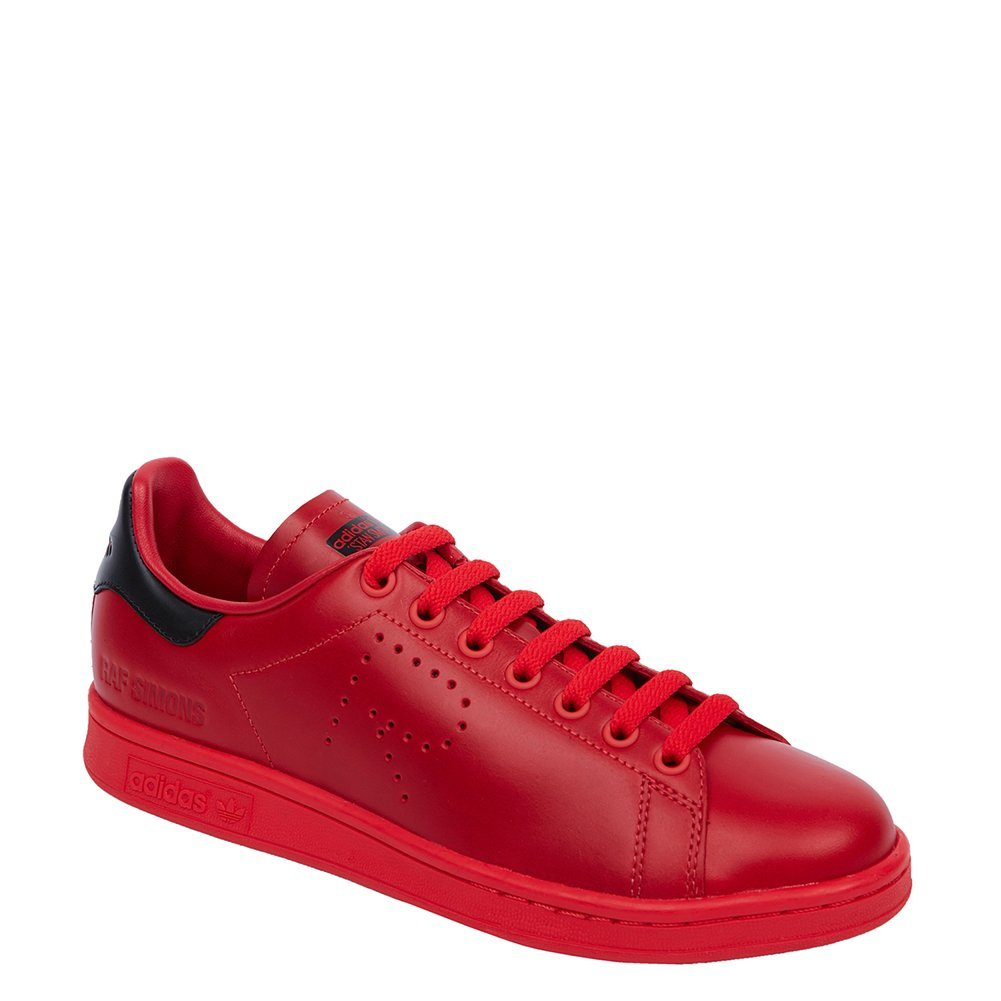 Adidas X Raf Simons Men's Stan Smith Sneakers BA7377 Tomato/Black/Tomato SZ 7...
