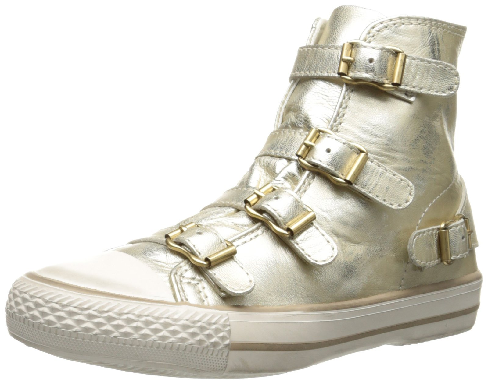 Ash Women's Virgin Fashion Sneaker, Gold, 35 EU/5 M US