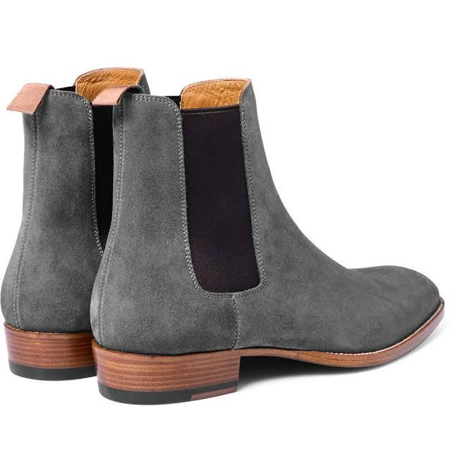 Handmade Men's fashion Gray Chelsea boots, Men gray ...