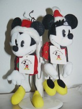 """Vintage '90's GUND & Disney MICKEY& MINNIE Bean Bag Plush 7"""" - $26.24"""