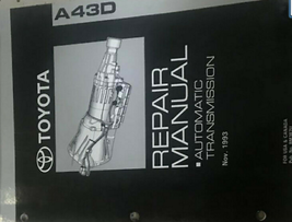 Toyotoa A43D Riparazione Manuale Trasmissione Automatica Manuale OEM - $34.59