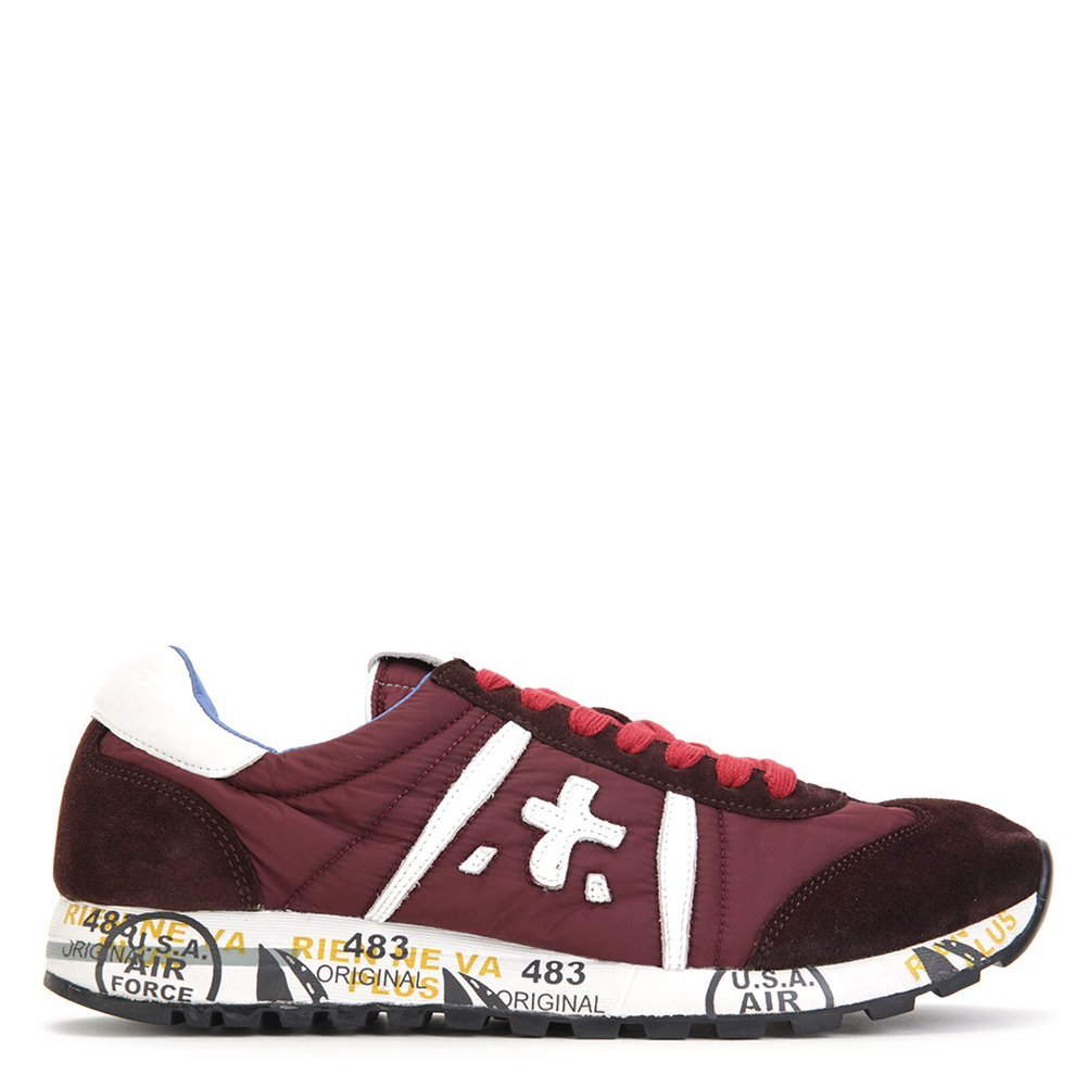 Premiata Men's Lucy Fashion Running Shoes WCY-1011 Burgundy/White SZ 40