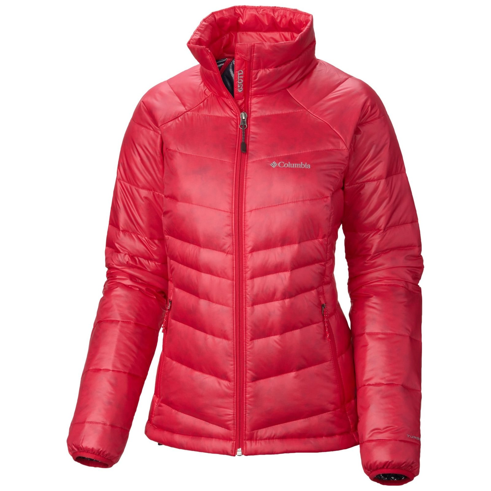 Columbia Women's Gold 650 TurboDown Down Jacket Ruby Red XS