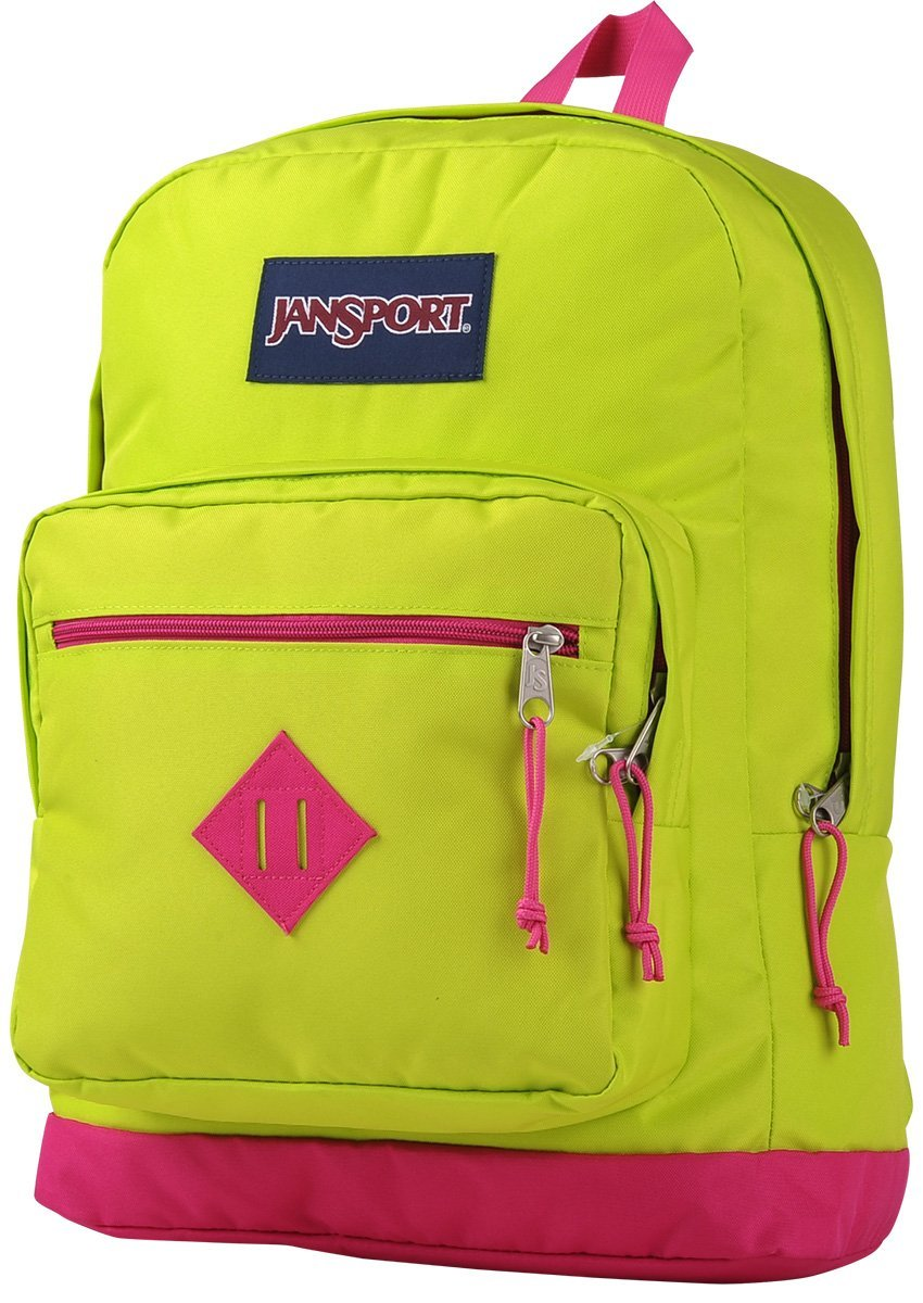 JanSport City Scout Laptop Backpack Lime Punch/Cyber Pink